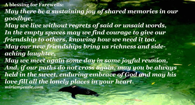 blessing for farewells